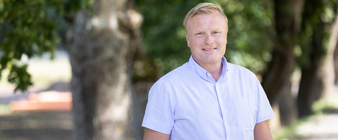 Marcus Åberg, market area manager in Umeå, is responsible for Ragn-Sell's collaboration with SCA Obbola and Ecogain.